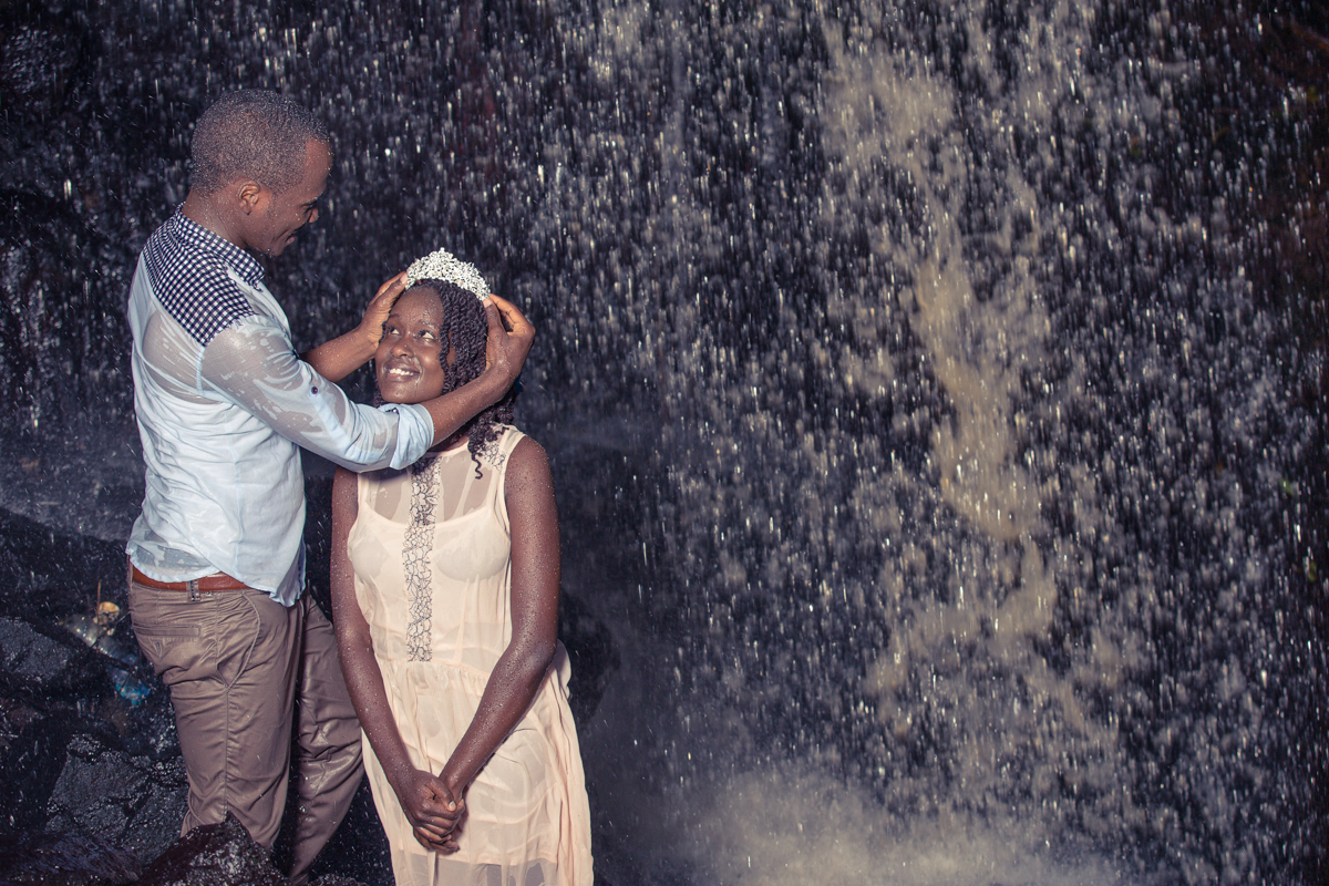 Ruth & Isaac Lovely Engagement at the waterfalls by antony Trivet Photography