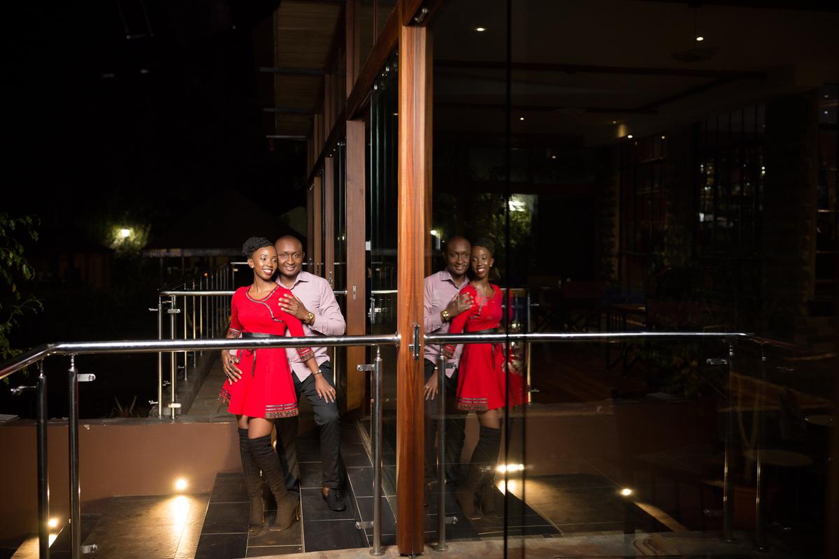 Geraldine & Kamau :: Dari Restaurant Coffee Garden Karen Nairobi Photo