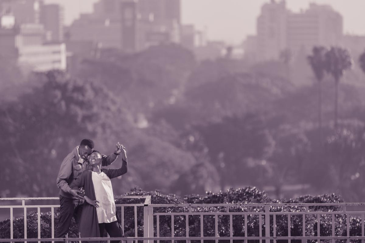 Christine & Kenneth Enchanting engagement images at Nairobi City Kenya