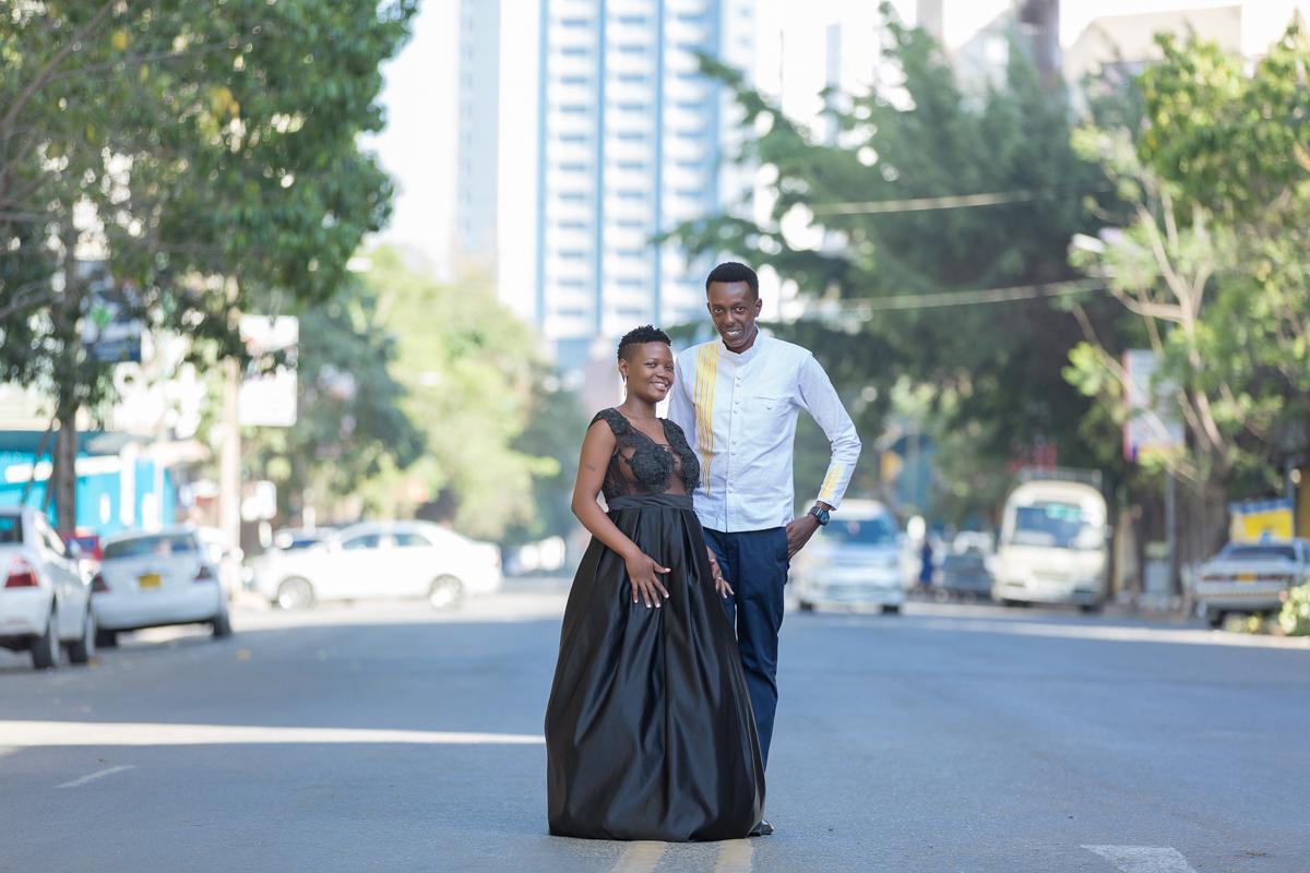 Christine & Kenneth :: Nairobi CBD City Kenya Engagement Photos
