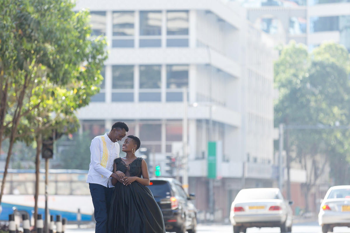 Christine & Kenneth Nairobi City County engagement images