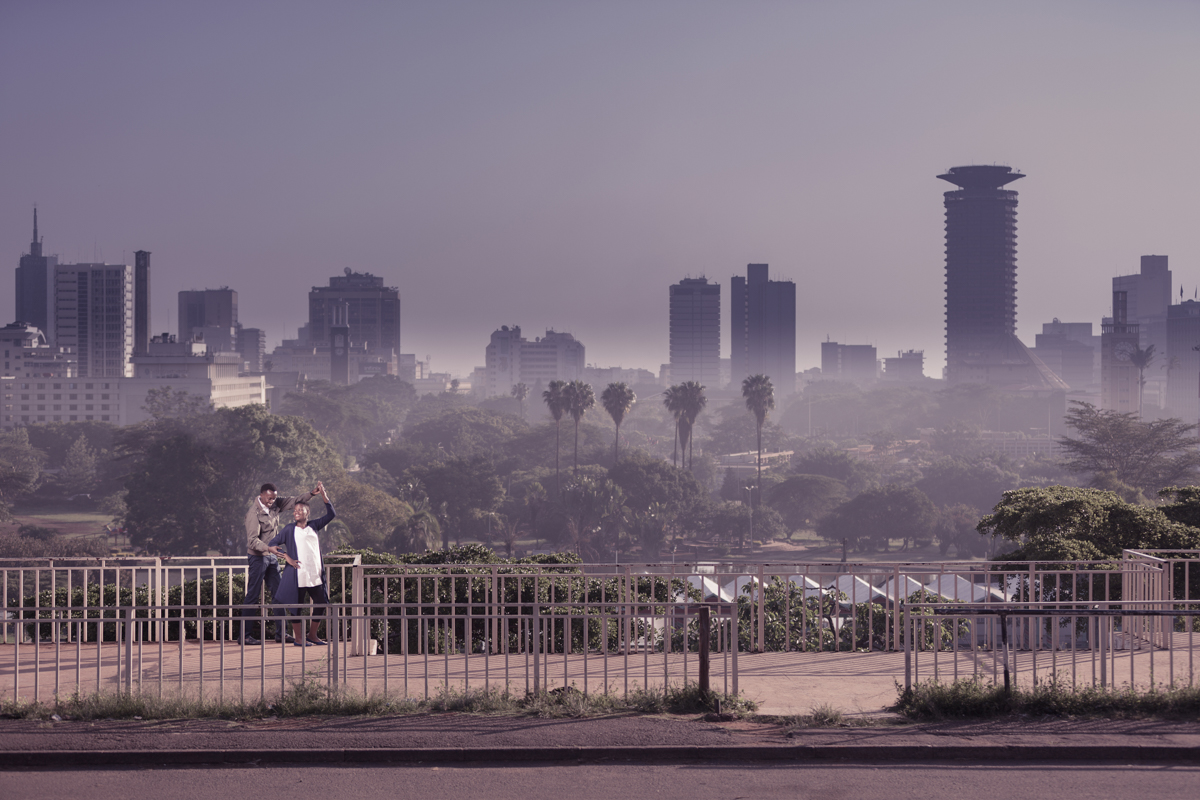 Christine & Kenneth :: Nairobi CBD City Kenya Engagement Photos