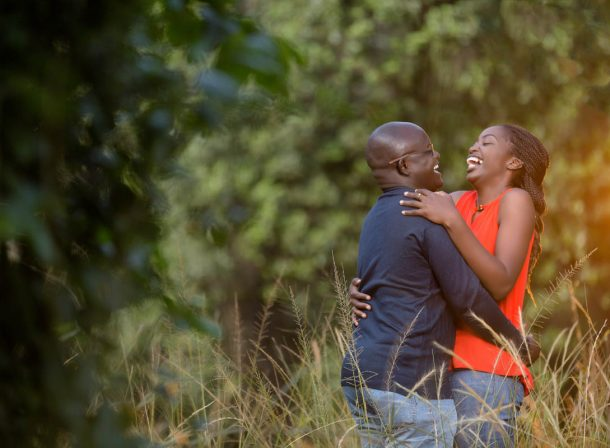 Theresa & Anthony :: Nairobi Arboretum Kenyan Engagement Images