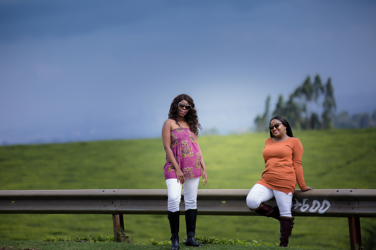 Twaila Koske & Sunshine Nyambura Nguma of Spiggy Productions at Kiambu Limuru Roadside Photo shoot