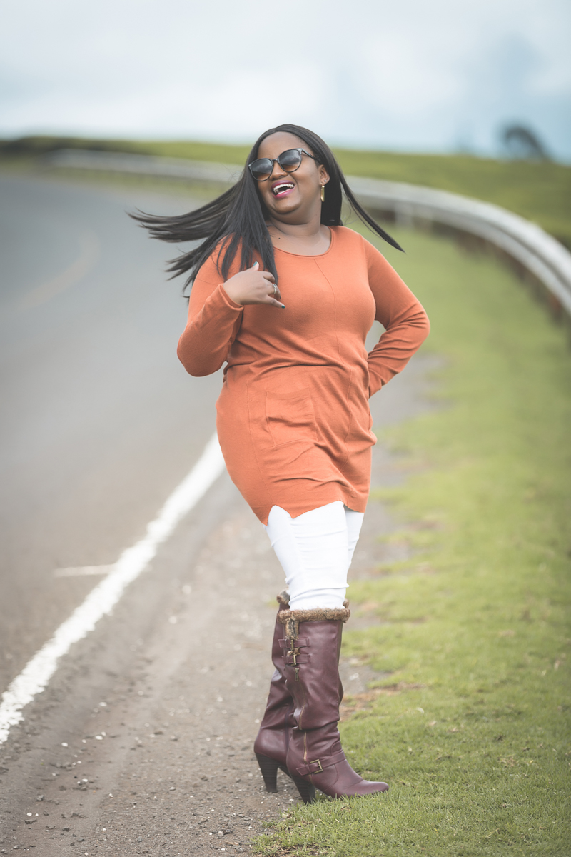 Twaila Koske at Kiambu Limuru Roadside Photo shoot
