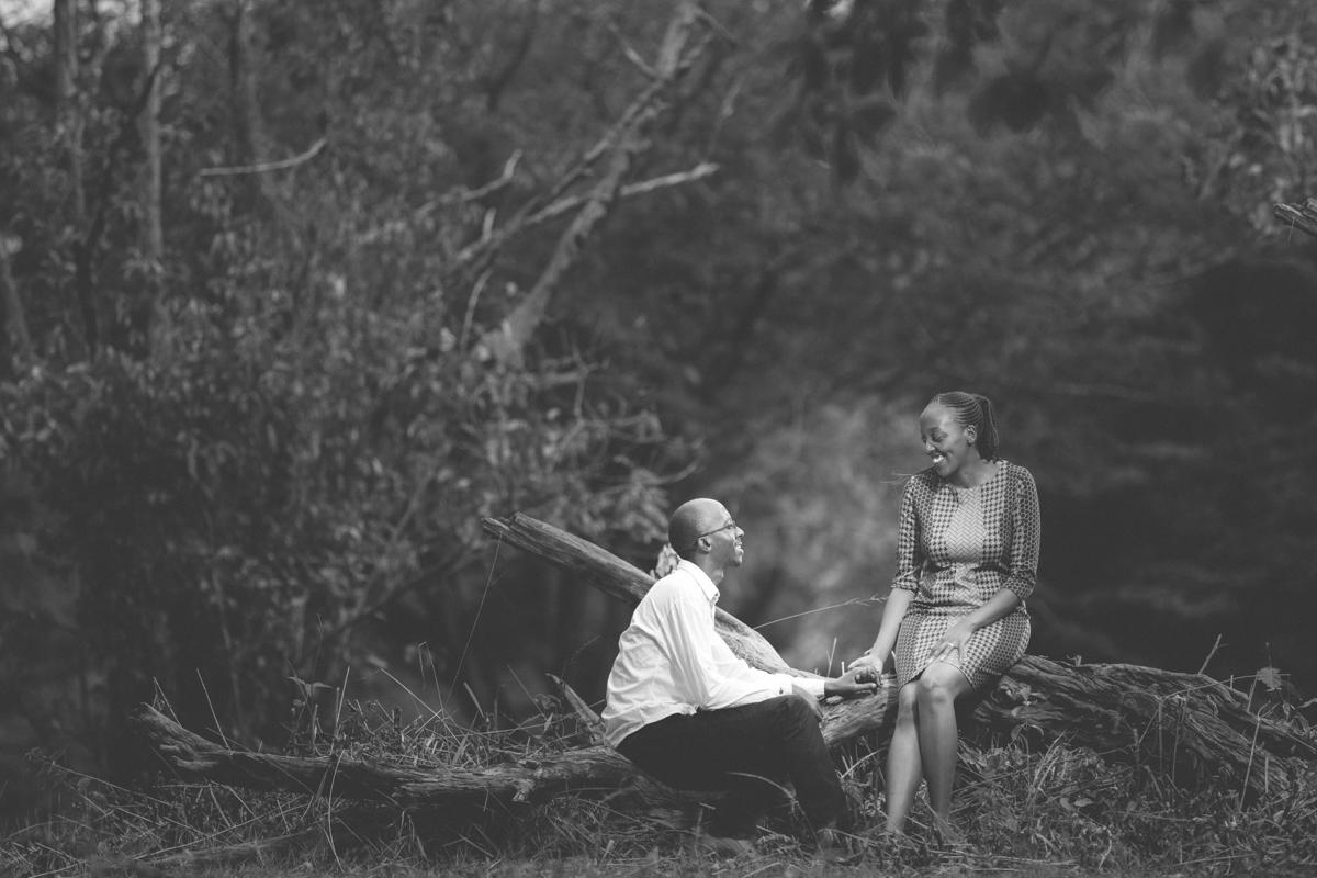 Joan & Antony :: Nairobi Arboretum Intimate Engagement Pictures