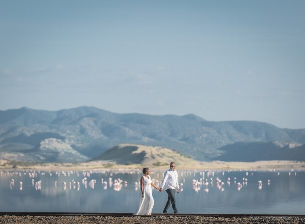 Yvonne & Charles :: Lake Magadi Modern Glam Engagement Session