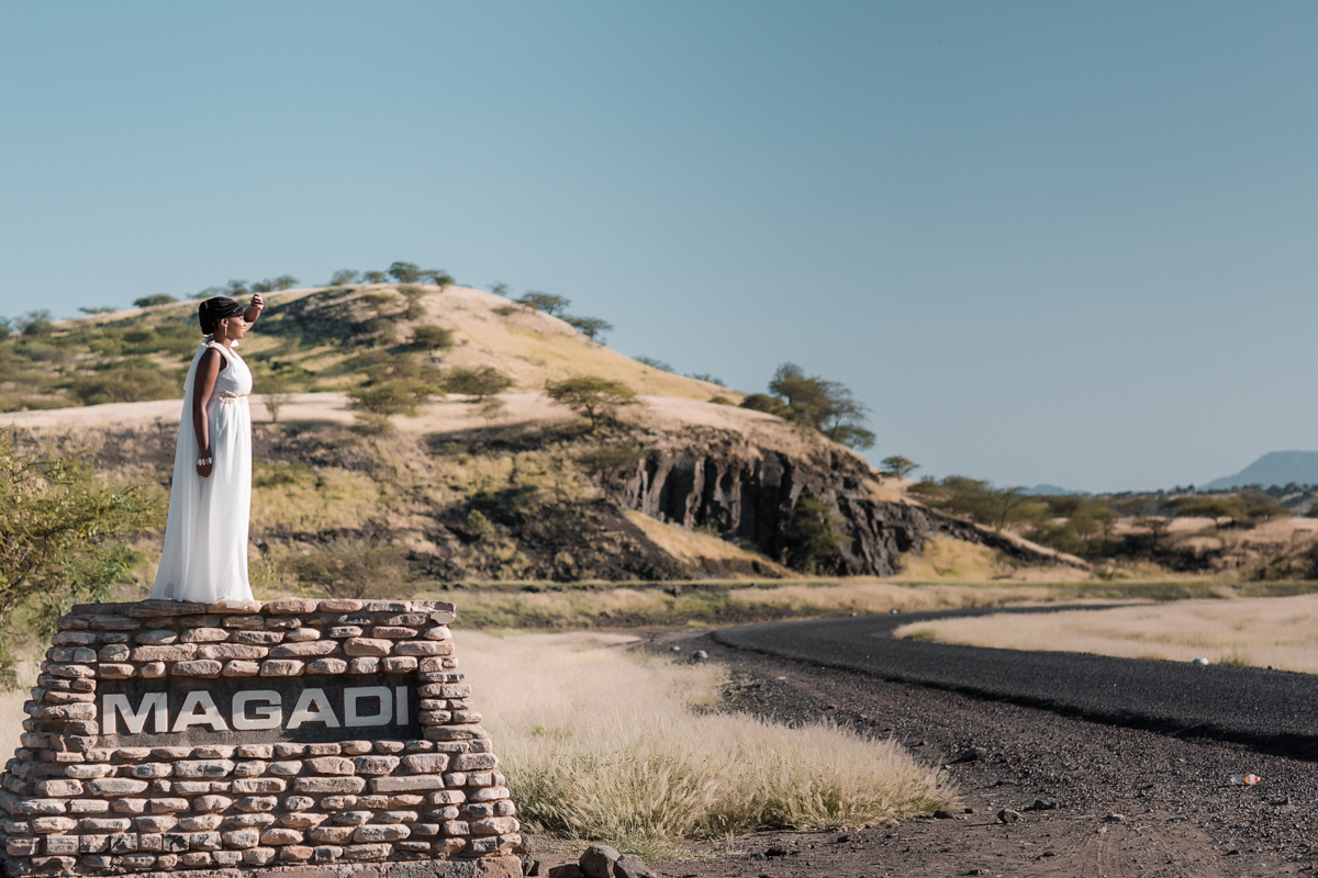 Yvonne & Charles :: Lake Magadi Modern Glam Engagement Session