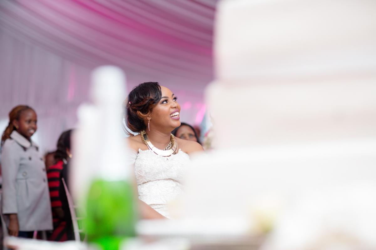 Bride enjoying the moment