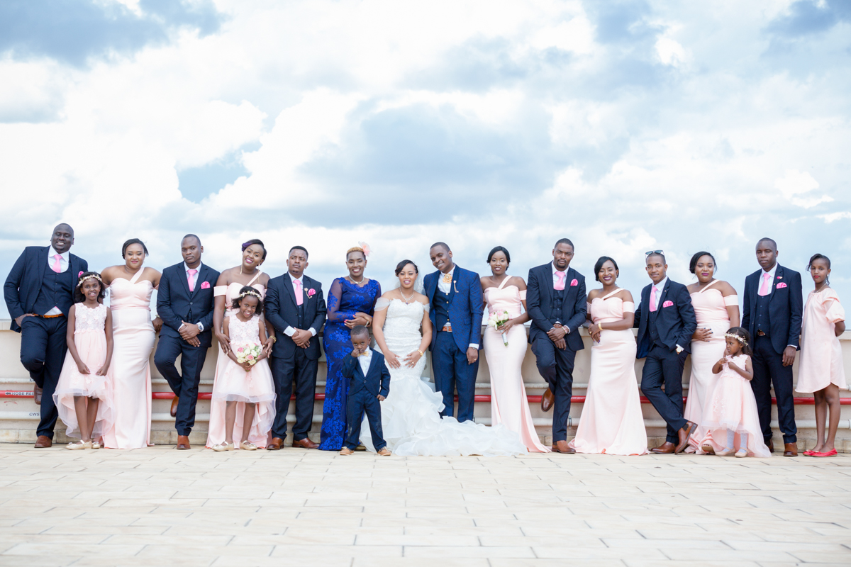 Bridal team portraits at Crowne Plaza Nairobi