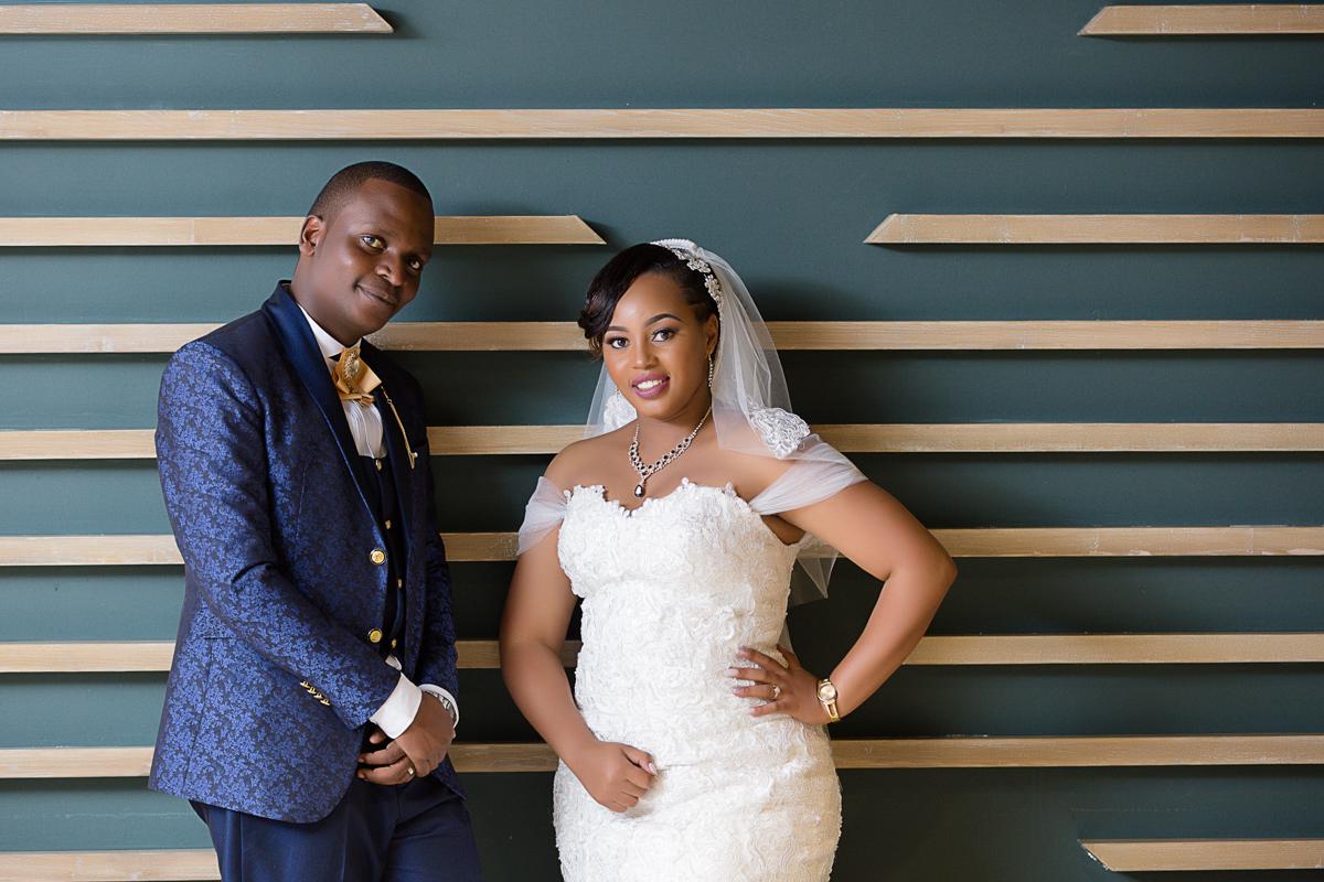 Bride and groom portraits at Crowne Plaza Nairobi