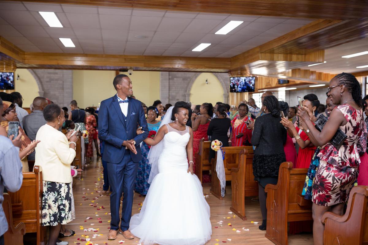 Celia & Paul at St Francis Church Karen Boyani Rd, Nairobi