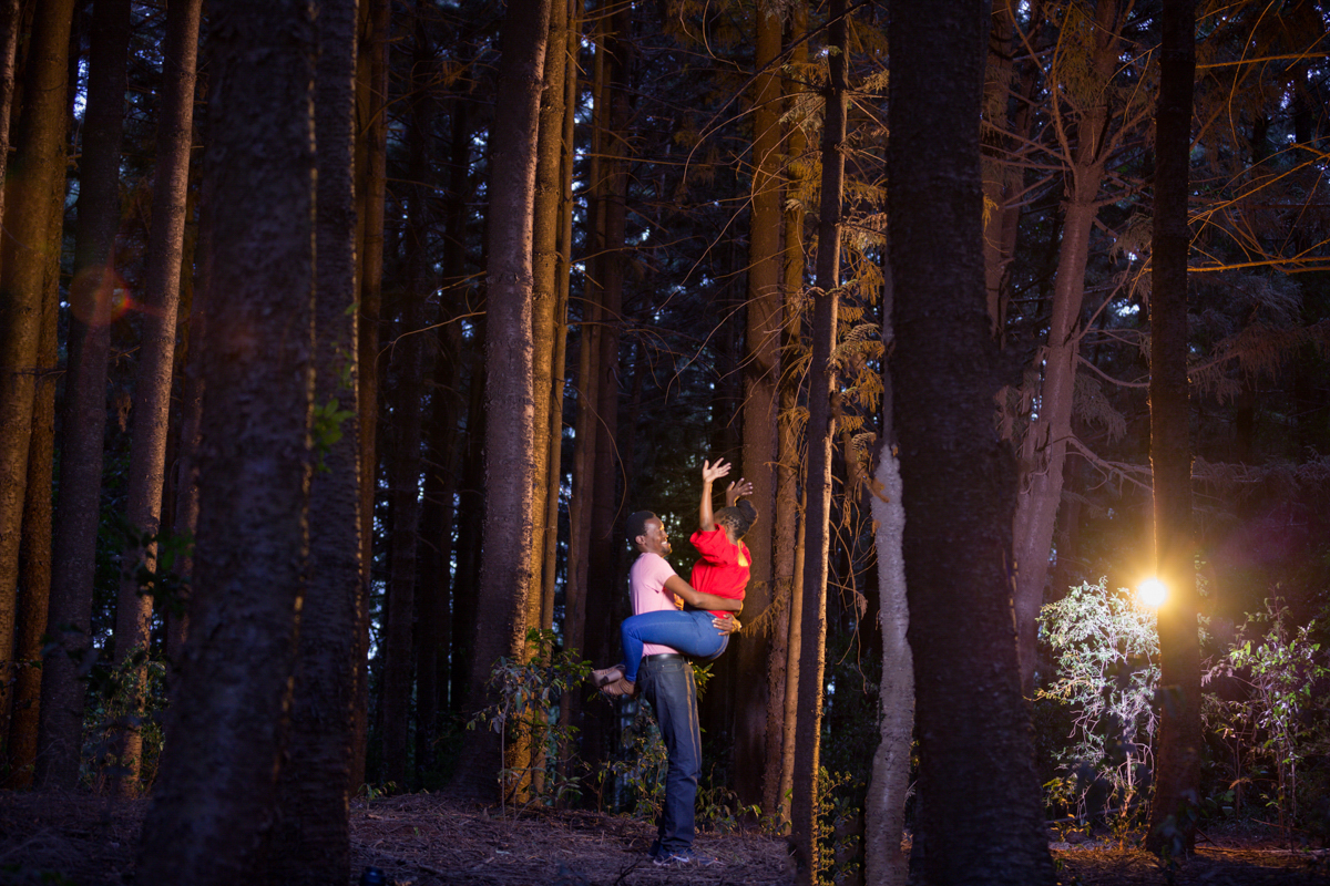 Kenyan Ugandan Engagement Photosession :: Karura Forest Nature Walk