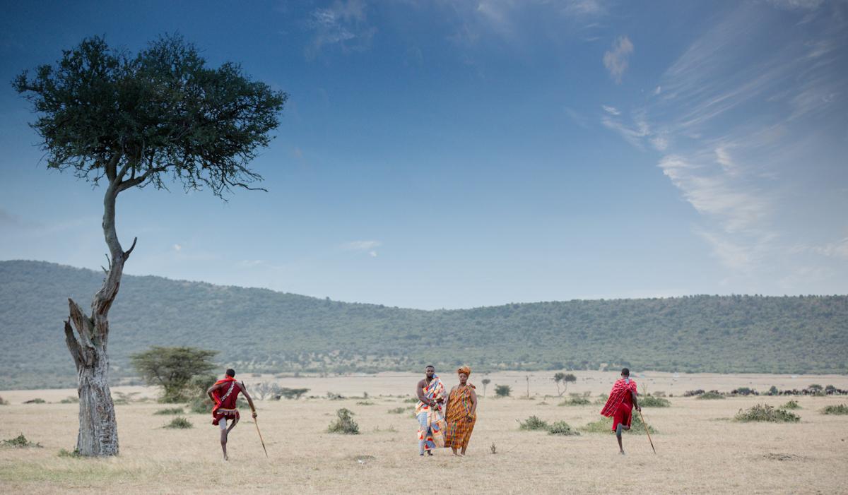 Kenyan Ghanaian Maasai Mara Elopement :: Simba & Oryx Nature Camp