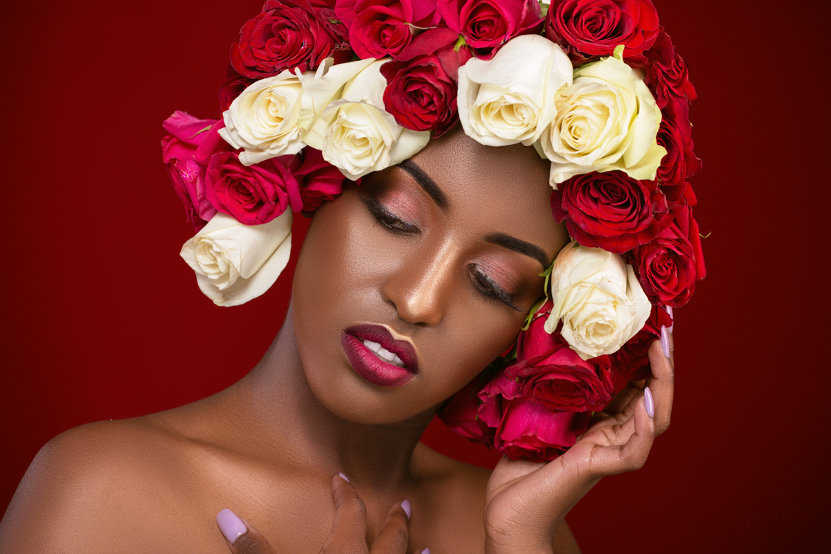 Sylvia Marie Glams Cynthia :: Flower Beauty Kenyan Portraits