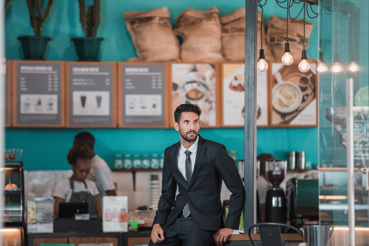 Lugo Collection Designer Suits :: Connect Coffee Roasters Photos