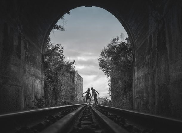 Lilian & Ericson Kenyan Photography :: Buxton Train Tunnel Engagement