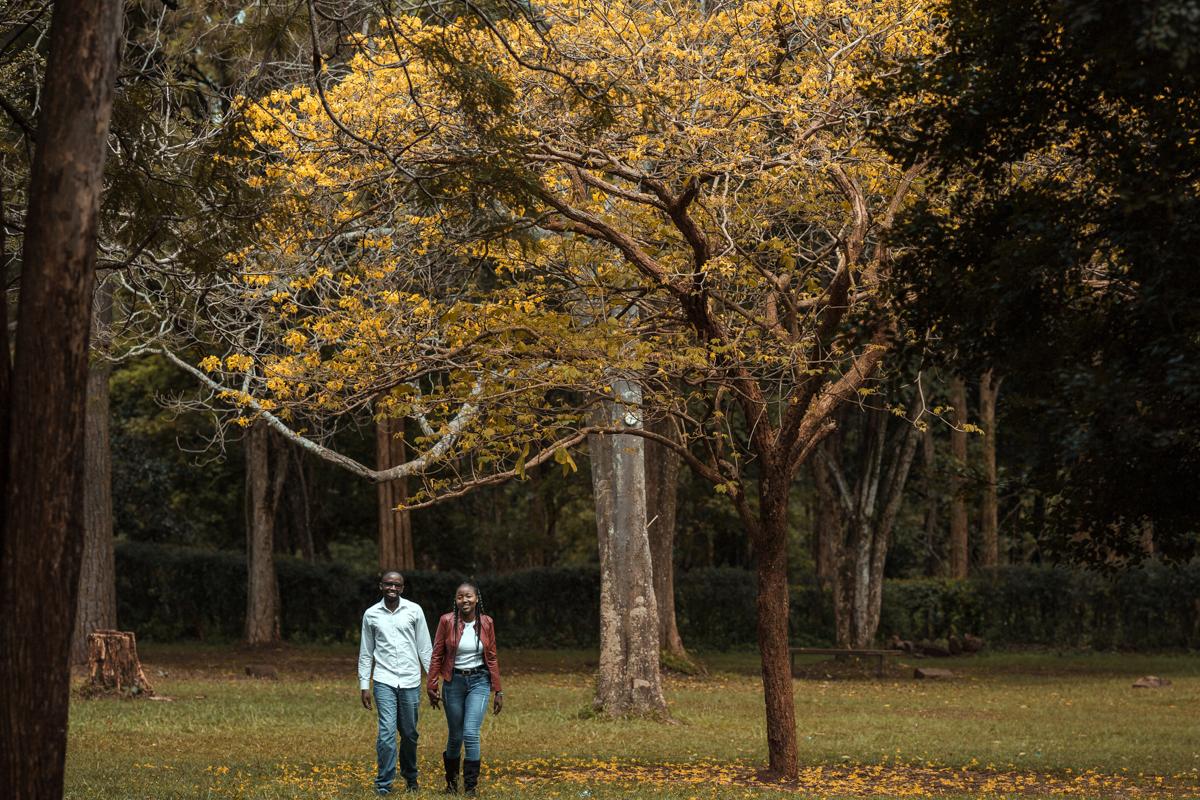 Assumpta & Josephat :: Nairobi Arboretum Engagement Session