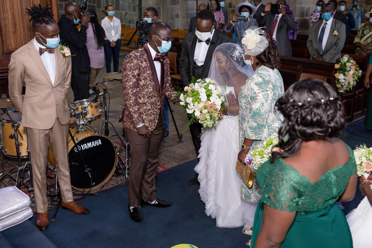 Emily weds Alvin church ceremony at All Saints Cathedral, Nairobi