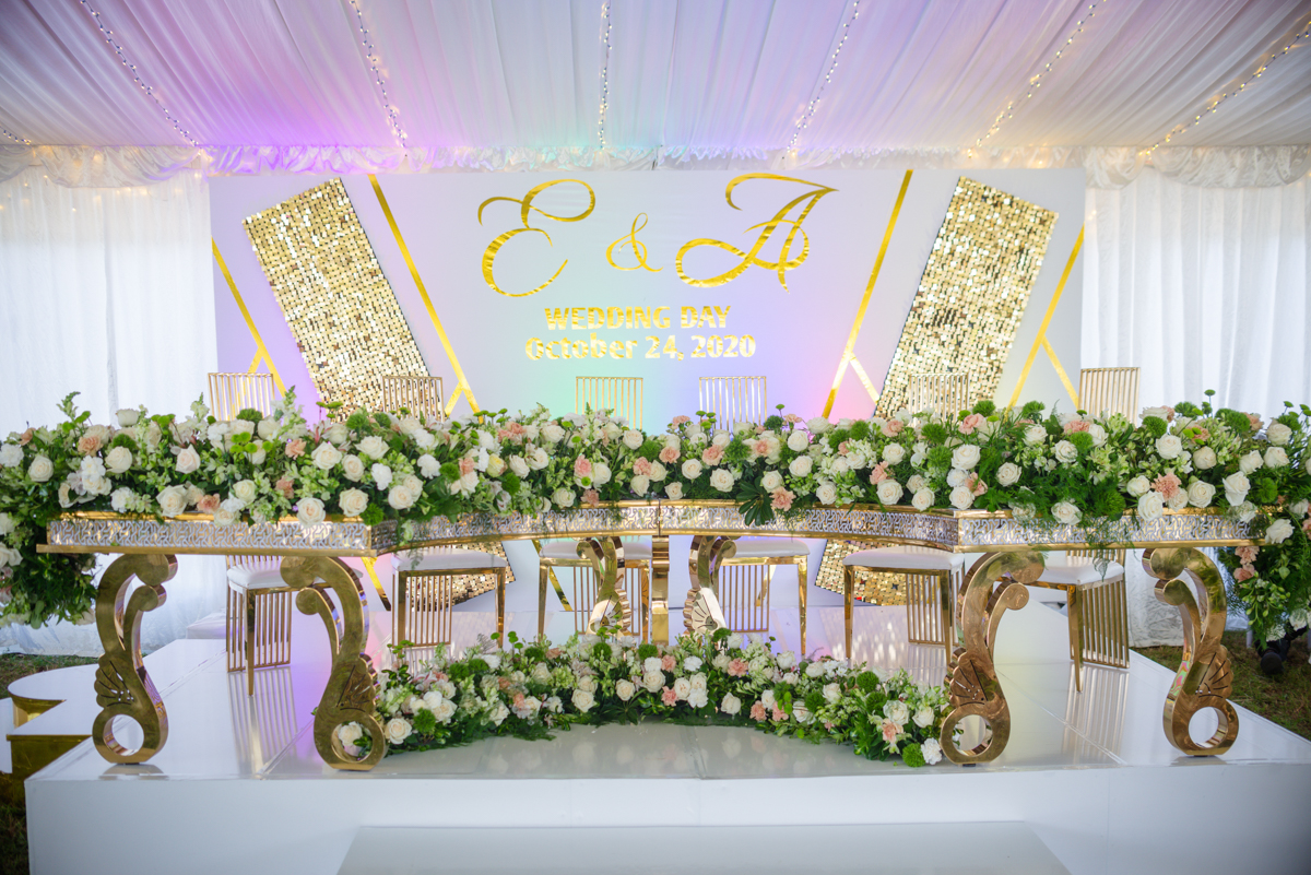 Wedding decoration by Ecoworld Events Management Company and Rita creations,you dream, we create at Karen Country Club