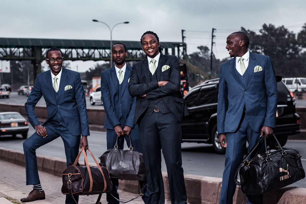 Groomsmen morning photo-shoot along Thika road super highway