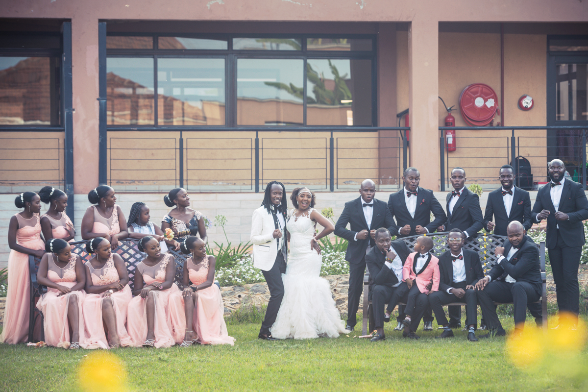Kenyan Bridal Team Portraits By Antony Trivet Weddings